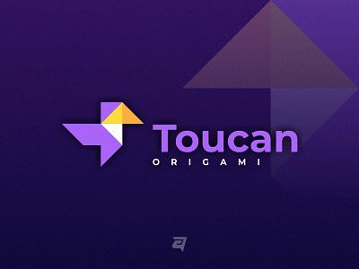 Toucan origami technology creative toucan bird animal branding illustration vector logo modern design