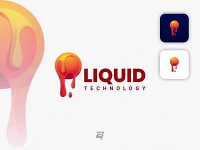 Liquid creative technology liquid branding gradient colorful illustration vector logo modern design