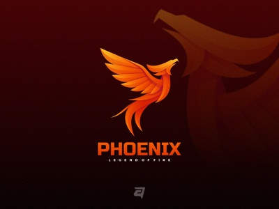 Phoenix technology bird mytgology phoenix animal creative branding gradient colorful illustration vector logo modern design