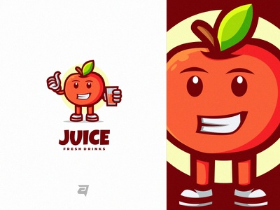 Juice drawn art juice cartoon simple creative branding illustration vector logo modern design