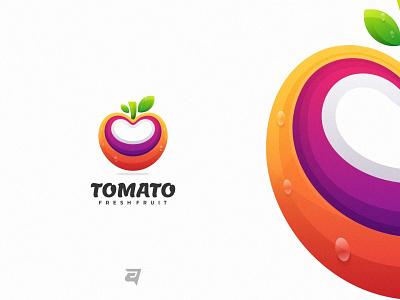 Tomato graphic tomato creative branding gradient colorful illustration vector logo modern design