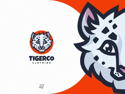 TIGERCO technology tiger cartoon media clothing dymbol branding illustration vector logo modern design