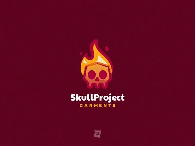 Skull Project creative project skull gradient branding illustration vector logo modern design