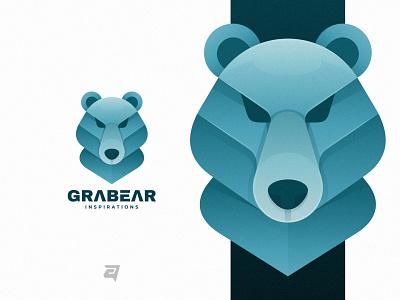 BEAR creative bear simple graphic technology branding gradient colorful illustration vector logo modern design