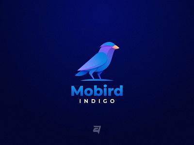 Bird graphic design graphic technology bird animal creative branding gradient colorful illustration vector logo modern design
