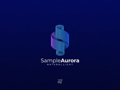 Aurora business company creative aurora technology branding gradient colorful illustration vector logo modern design