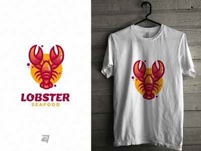 Lobster branding lobster animal template graphic design graphic t-shirt technology creative gradient illustration vector logo modern design