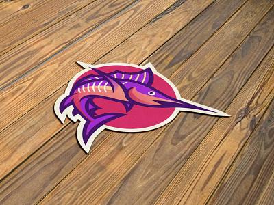 Marlin simple graphic design technology marlin animal creative branding gradient colorful illustration vector logo modern design