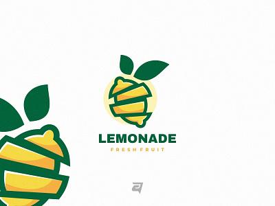 Lemonade logo design logo inspiration graphic design creative yellow fruit lemon simple technology branding illustration vector logo modern design