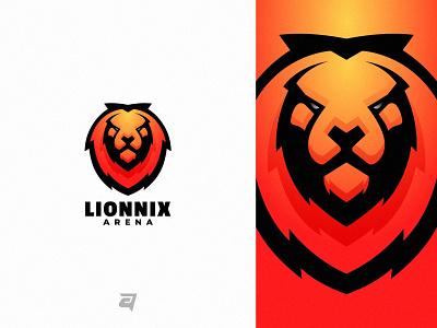 Lion logo awesome logo inspiration logo design lion graphic design technology branding gradient colorful illustration vector logo modern design