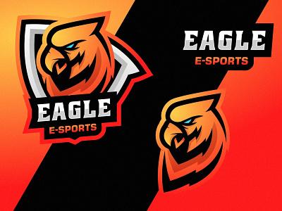 Eagle graphic design hunter eagle bird gaming logo symbol team gaming esport sport branding gradient colorful illustration vector logo modern design