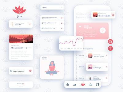 Loto Meditation App creative app design design app designer pattern presentation meditation app design ux app uidesign minimal ui