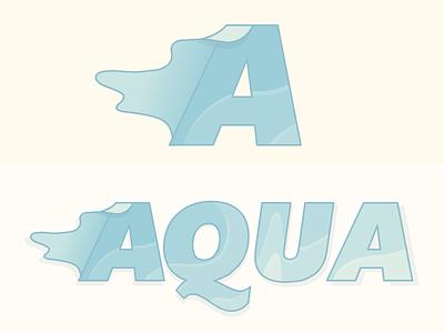 Aqua - Water : Typography Exploration typography logo water letterform a letter aqua acqua