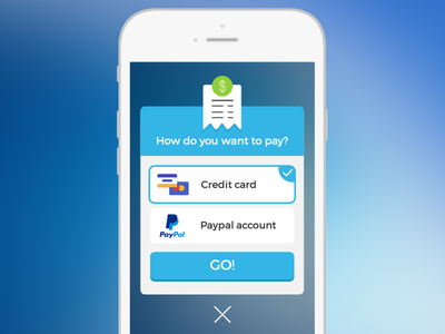 Payment Method pop up window pop up window ui ux mobile button flat payment