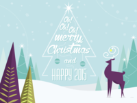 Oh! Oh! Oh! Merry Christmas christmas tree card deer typography star xmas