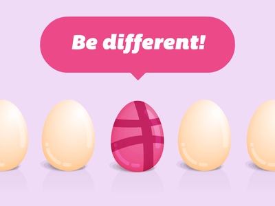 Dribbble Invite Giveaway X1 dribbble invite giveaway egg graphic illustration