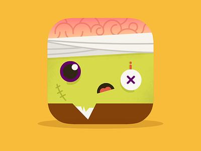 Zombie Icon - Halloween is coming! monster illustration icon design mobile graphic app icon icon zombie halloween vector