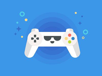 Cool Game Icon - Joypad joypad game blue graphic design icon vector cool illustration identity joysctick