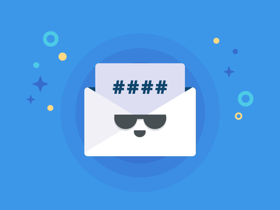 Cool Message Icon - Letter with code code vector email message illustration identity icon design graphic letter cool blue