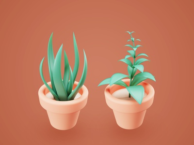 3D Plants assets user interface design minimalist 3d illustration ui design