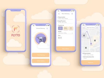Drone delivery app uxui ux design app delivery drone designslices