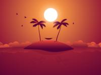 Coconut man sleeping