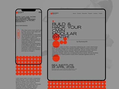 Boom Festival - Single event festival mobile app design mobile ui mobile brutalist clean desktop ui minimalism grid minimal