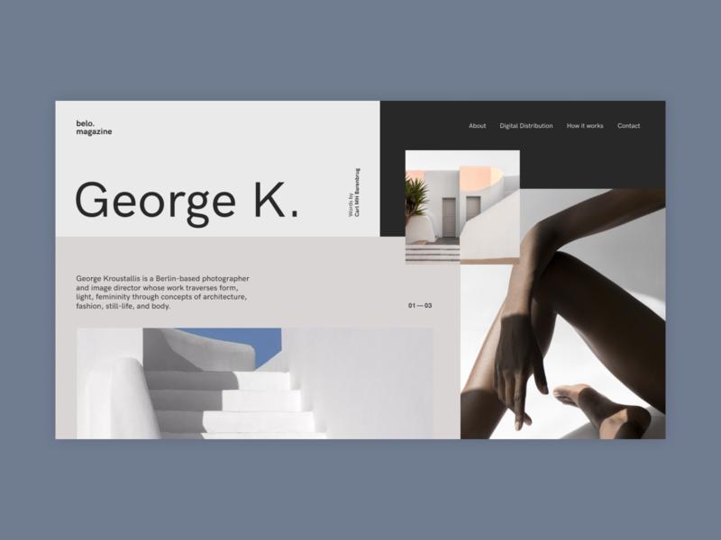Magazine flat gallery fullscreen clear clean ui minimalism grid ux minimal