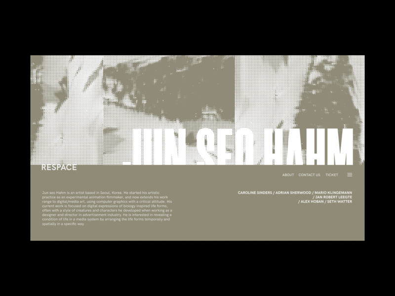 respace fullscreen web site desktop clean ui minimalism grid clear minimal