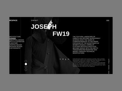 Respace design fullscreen desktop clean ui minimalism grid clear minimal