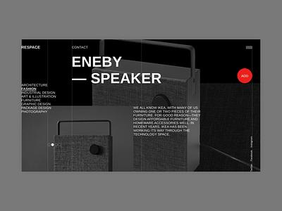 Respace - Eneby ux clean ui minimalism grid minimal clear