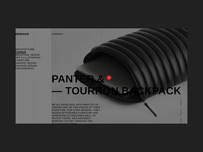 Respace - Backpack desktop ui clean minimalism grid clear minimal