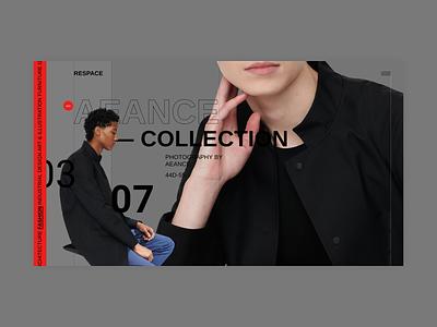 Respace - Collection fullscreen desktop clean ui minimalism grid clear minimal