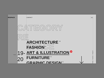 Rescape - Menu minimalism ui menu grid clear minimal
