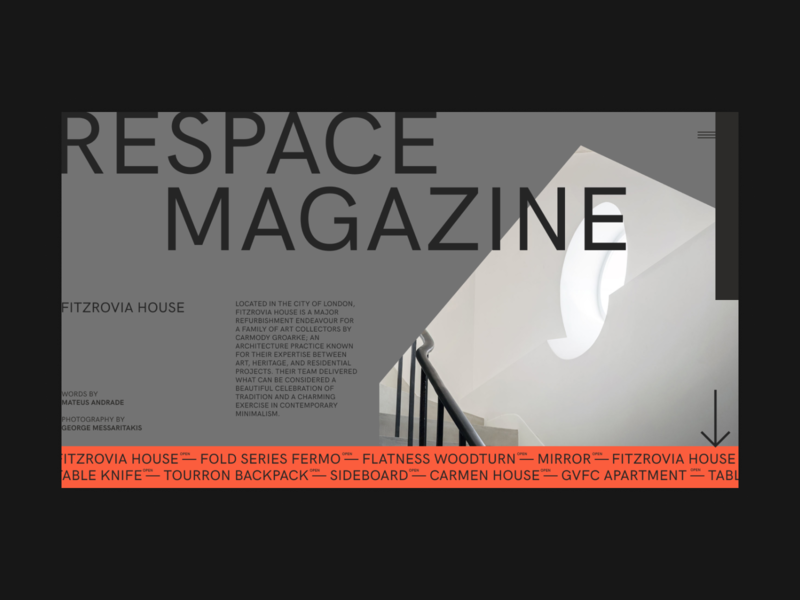Respace - Home fullscreen desktop clean ui minimalism grid clear minimal