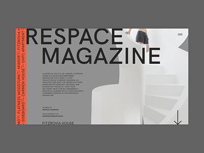 Respace ui clean minimalism clear grid minimal