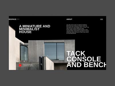 Respace website clear design desktop clean grid design component ui ui typography promo page minimalism minimal interface information brutalist article