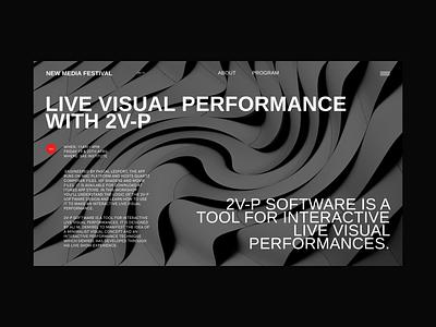New Media Festival website clear design desktop clean grid design component ui ui typography promo page minimalism minimal interface information brutalist article