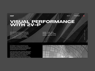 NMF website clear design desktop clean grid design component ui ui typography promo page minimalism minimal interface information brutalist article