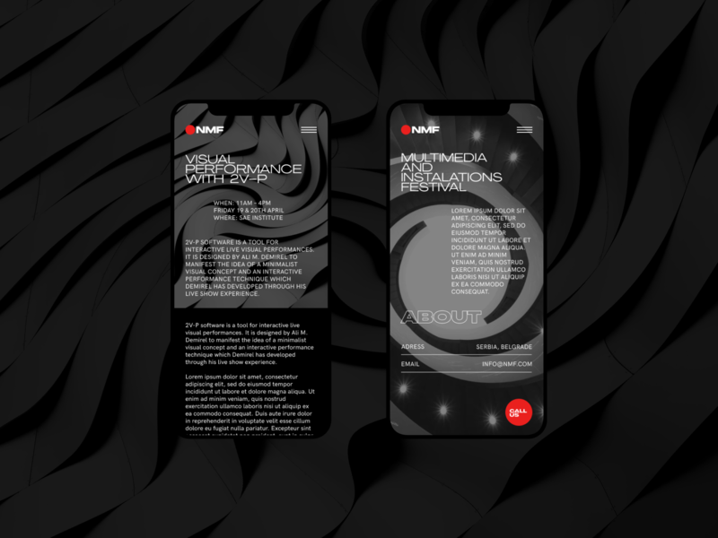 NMF - Mobile mobile website clear design desktop clean grid design component ui ui typography promo page minimalism minimal interface information brutalist article
