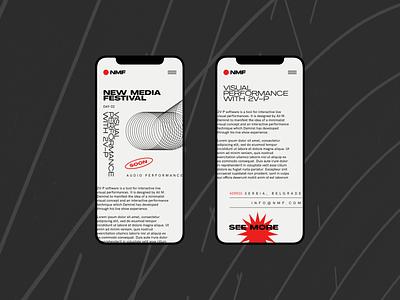 NMF - Mobile mobile website clear design desktop clean grid design component ui ui typography promo page minimalism minimal interface information brutalist article