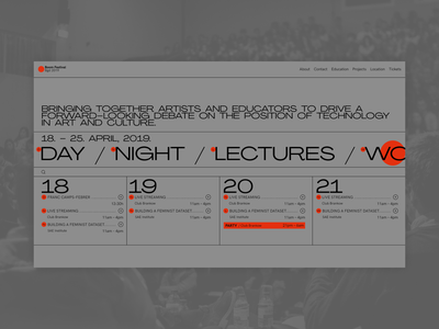 Boom Festival - Homepage website clear design desktop clean grid design component ui ui typography promo page minimalism minimal interface information brutalist