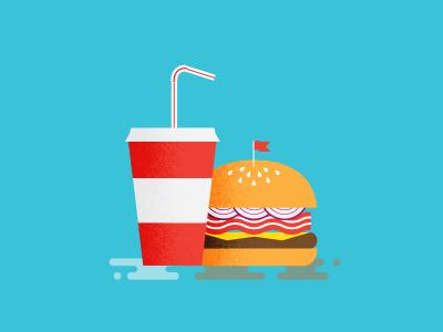 Burg & Drank hamburger cup kevin johnson bacon