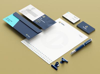 Tedoc Stationery logotype stationery minimal logo design brand identity branding