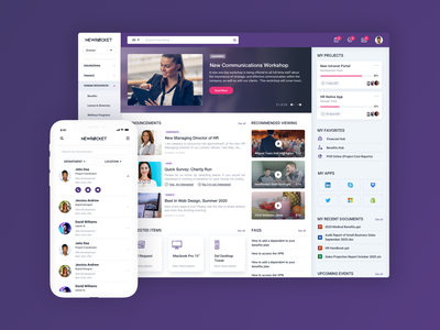 NewRocket Intranet Portal Design for ServiceNow portals employee experience employee portal portal servicenow intranet