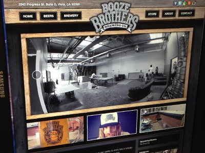 Booze Brothers Brewery Website booze brothers beer brewery brew bar logo website wordpress uiux