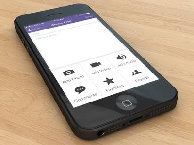 iPhone iOS7 Social Mobile App ios iphone mobile flat social app ui ux prototype