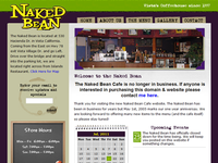 Naked Bean Cafe website