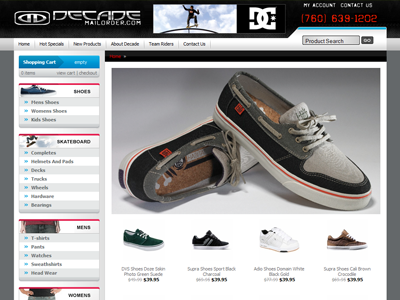 Decade Mailorder Ecommerce decade mailorder ecommerce theme design website store