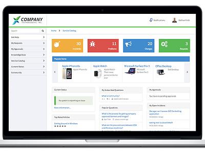 Self Service Portal Theme ux ui theme ess self service portal service portal servicenow